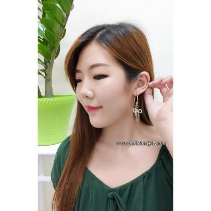 Dangle Ribbon Earrings